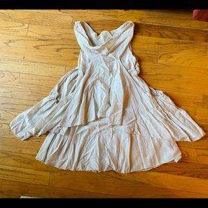 Silk sheer Italy cowl drape dress tunic top pocket